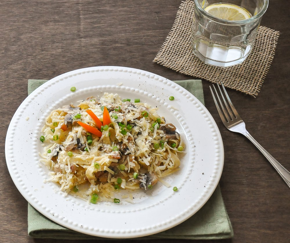 tagliatelle-Pasta-with-bacon-and-mushrooms-Parmesan-Cheese-Alfredo-Sauce