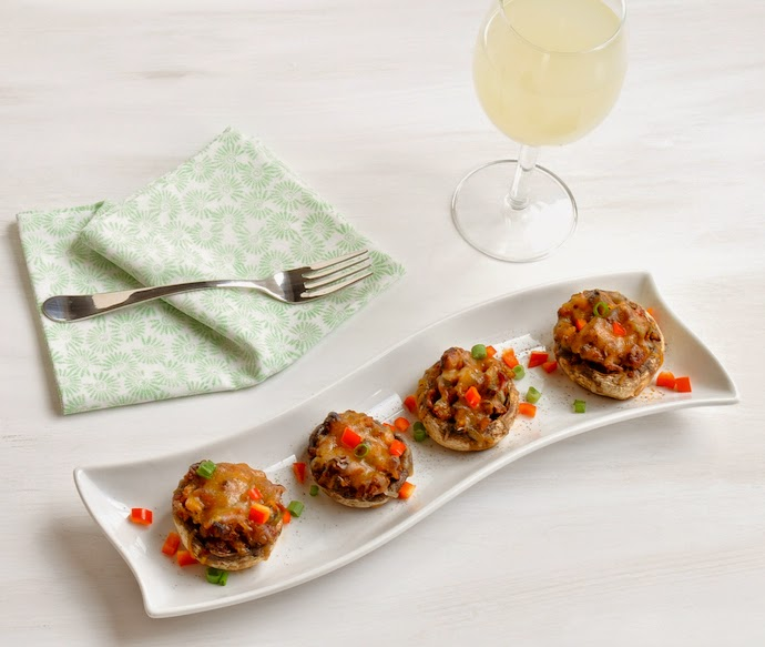 Stuffed-Mushrooms-Easy-Appetizer-Bar-Food-Bacon-Cheese