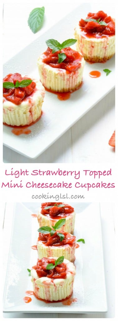 Light-Strawberry-Topped-Mini-Cheesecake-Cupcakes