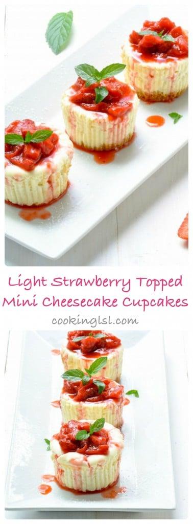 Light-Strawberry-Topped-Mini-Cheesecake-Cupcakes