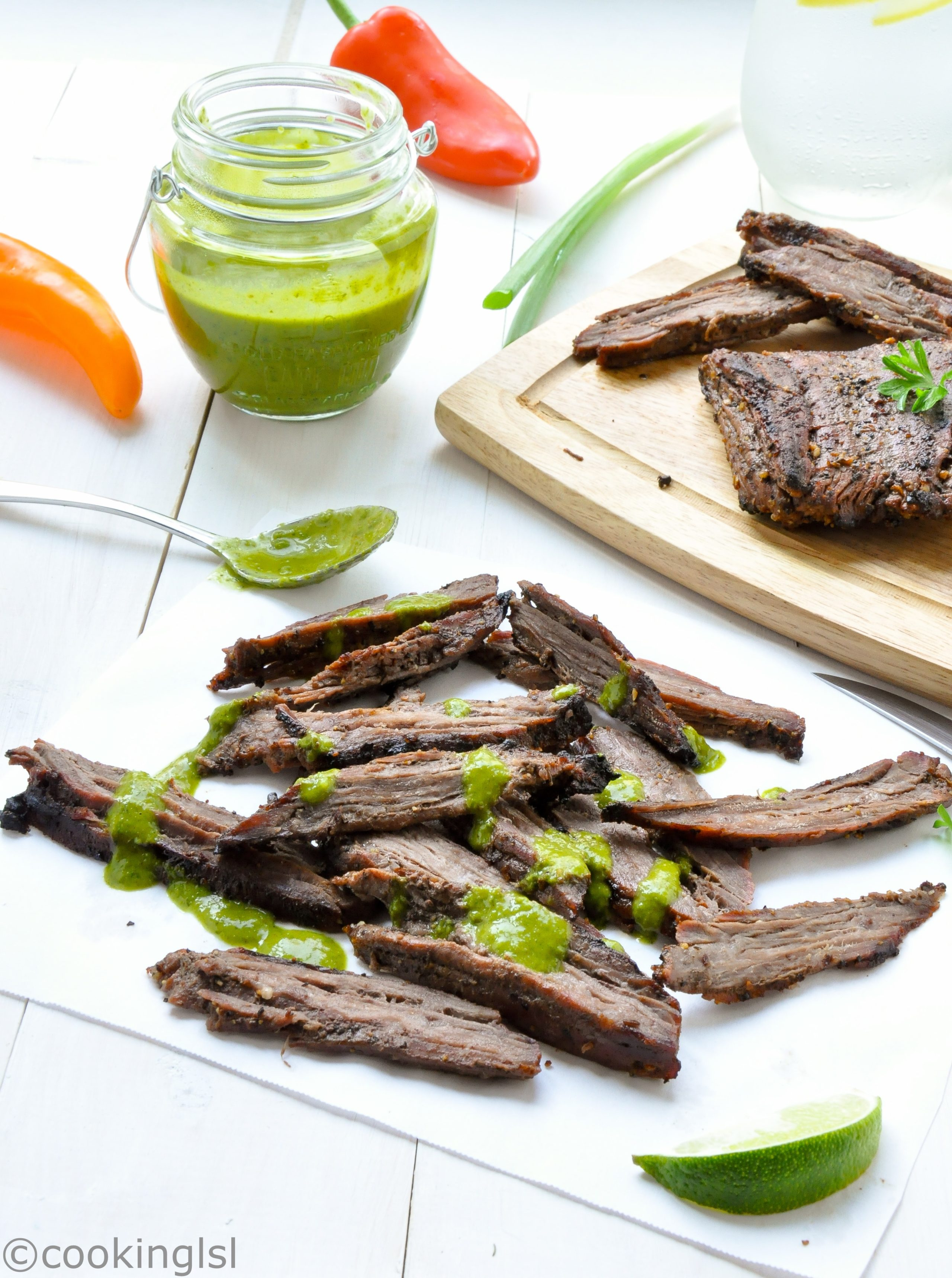 Grilled Skirt Steak With Chimichurri #LaborDay