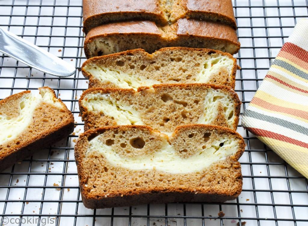 cream-cheese-filled-banana-bread-coconut-oil