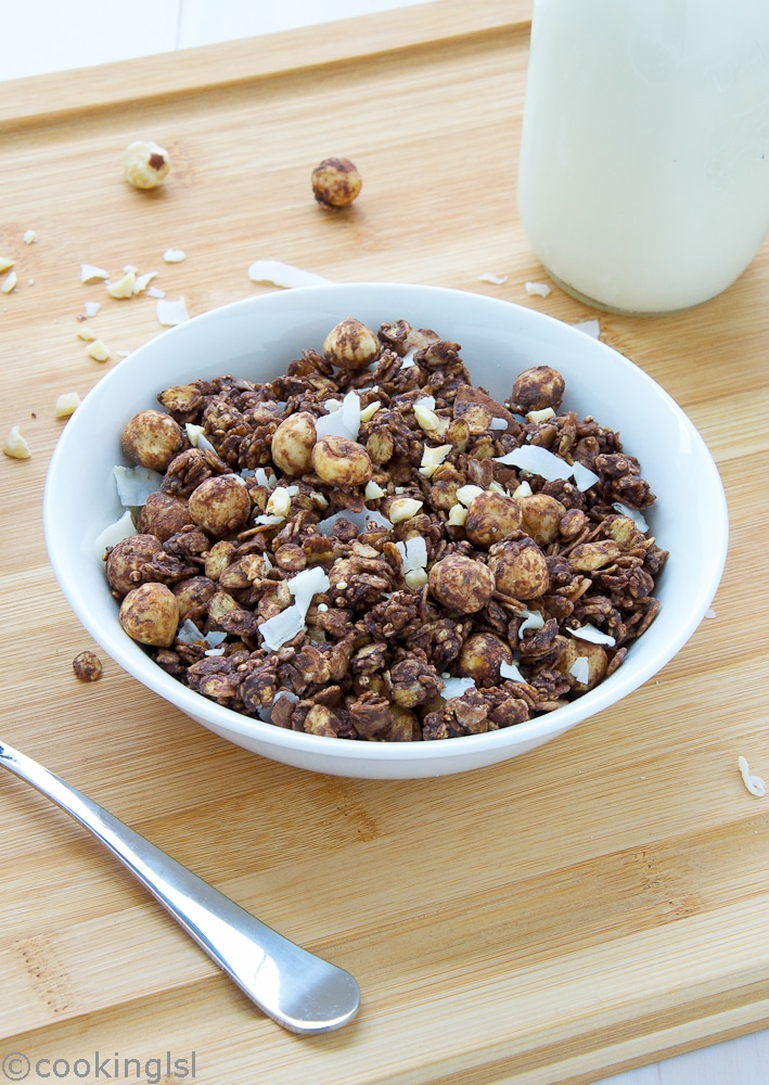 Chocolate-Coconut-Hazelnut-Quinoa-Granola-Vegan-Gluten-Free-Homemade