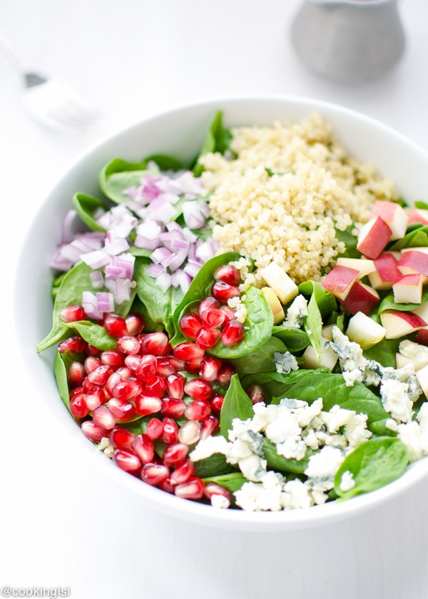 Spinach, Quinoa And Pomegranate Salad