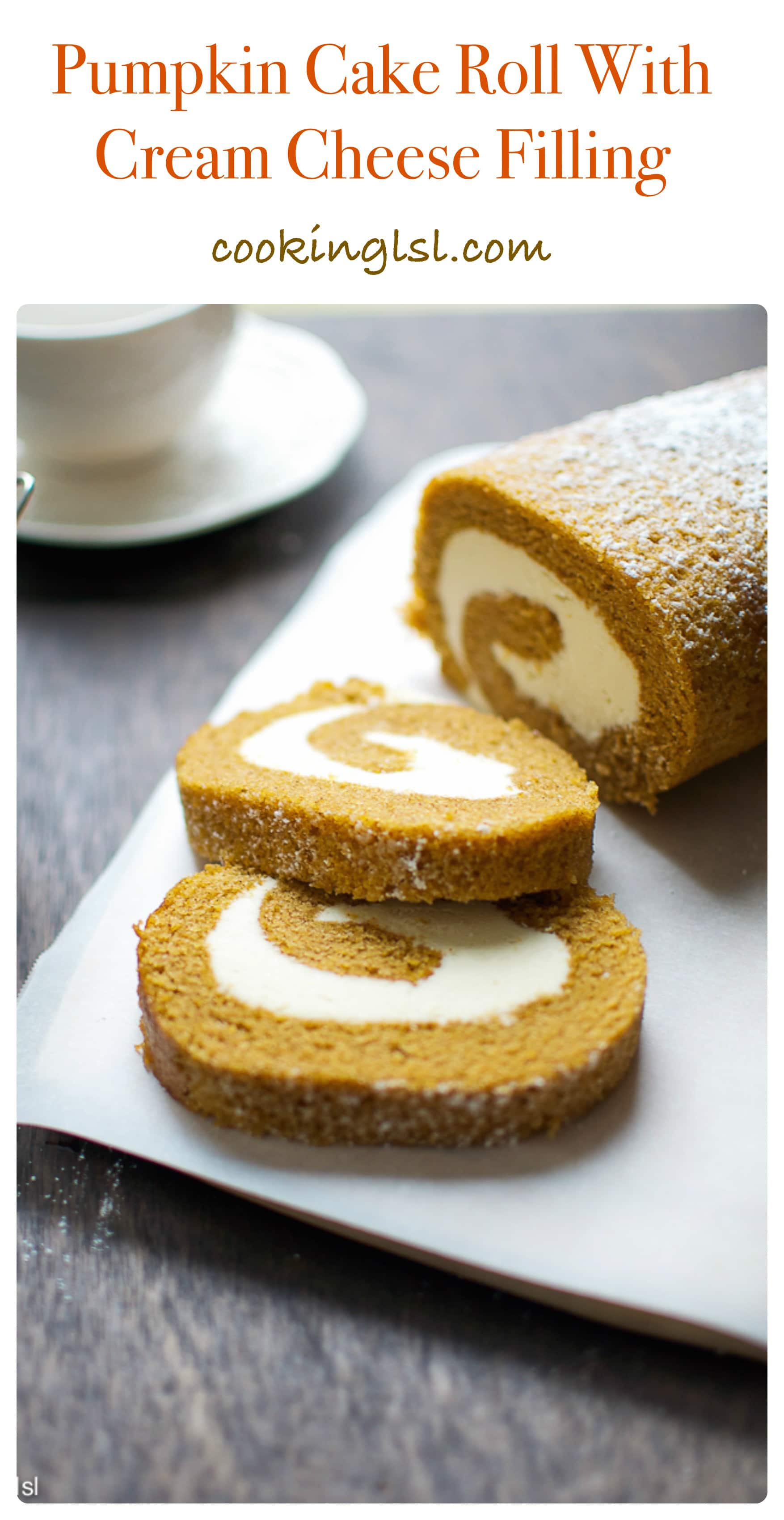 pumpkin-cake-roll-cream-cheese-filling-frosting-Thanksgiving-Halloween
