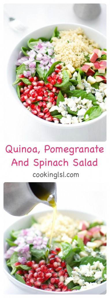 Quinoa-Pomegranate-Spinach-Salad