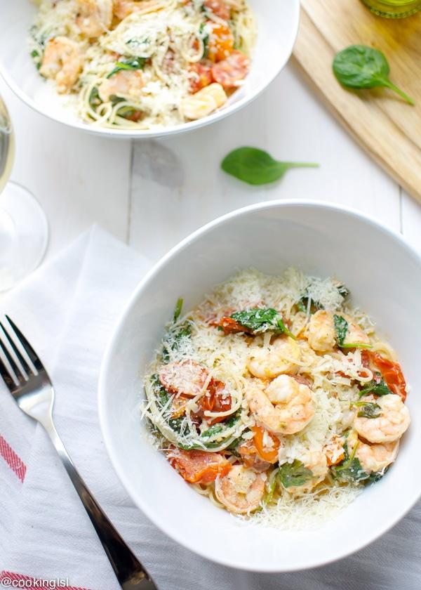 Shrimp Pasta Lite