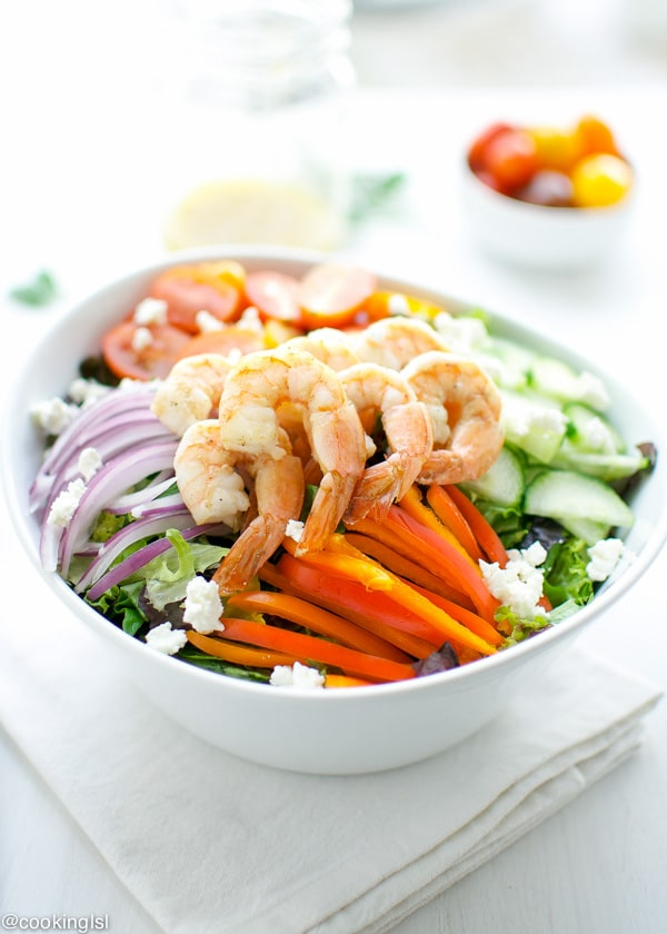 Greek Inspired Shrimp Salad