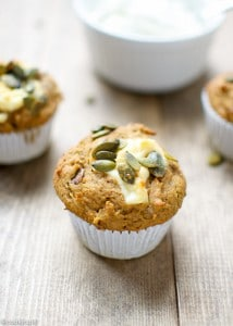 Naturally Sweetened Pumpkin Cream Cheese Muffins