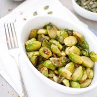 Tender Sweet and Sour Brussels Sprouts Side Dish Christmas