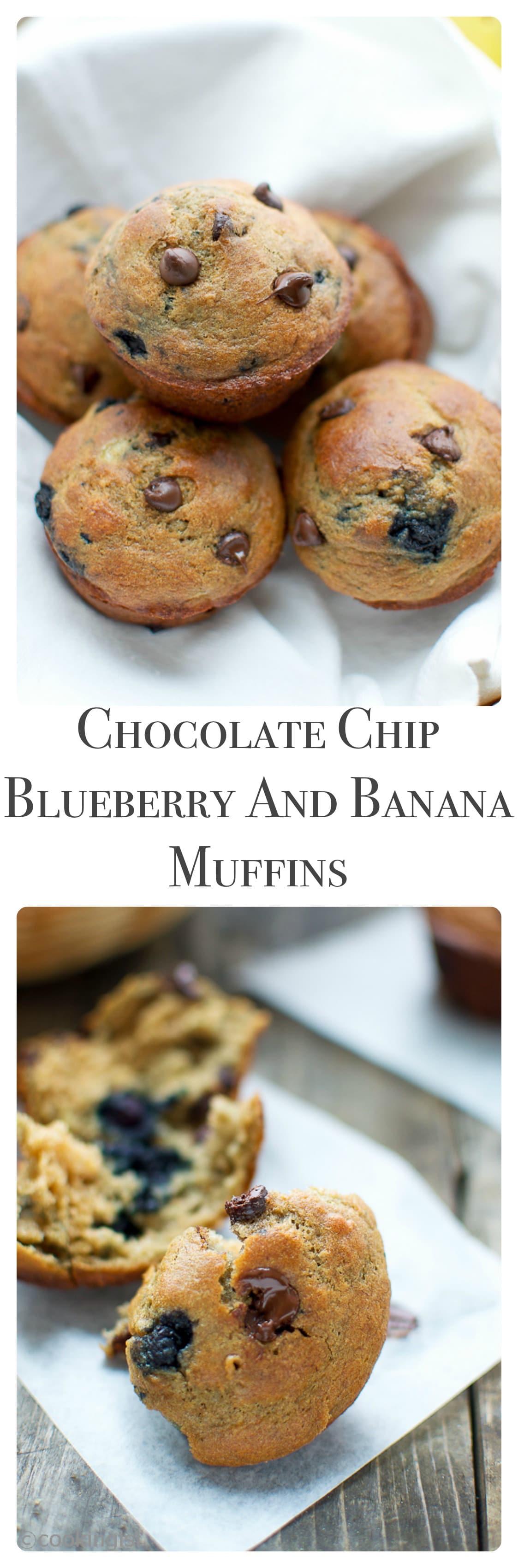 Chocolate-Chip-Banana-Blueberry-Muffins