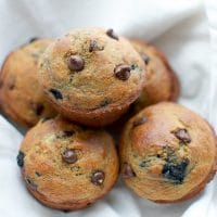 Chocolate Chip Blueberry Banana Muffins Whole Wheat