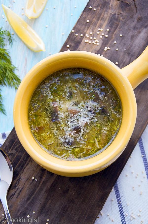 Quinoa Mushroom Soup