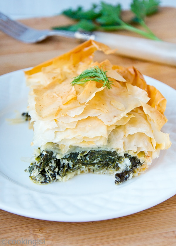 phyllo-filo-spinach-feta-Greek-pie-spanakopita-dill-parsley-banitsa