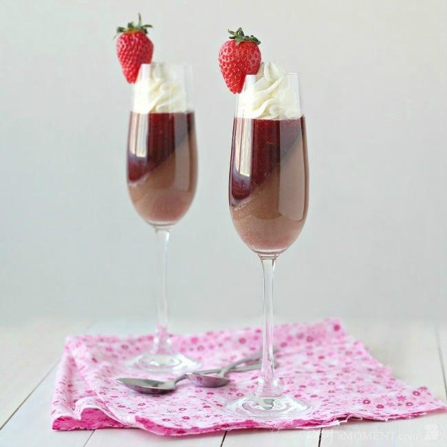 strawberry rose chocolate verrines