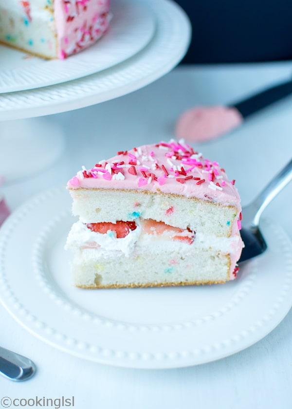 Pink Funfetti Birthday /Valentine's day Cake