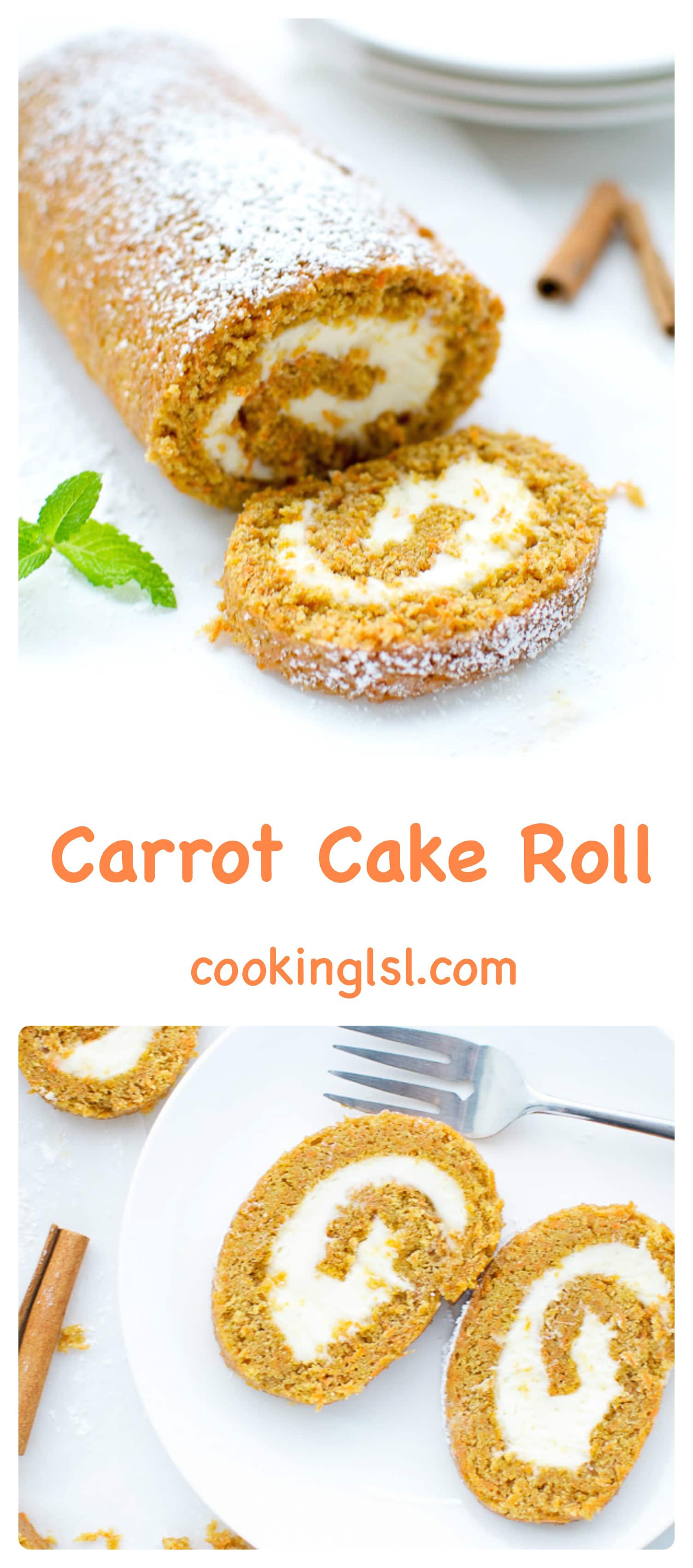 Carrot-Cake-Roll-With-Cream-Cheese-Filling