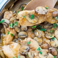 Mushroom-Chicken-With-Brandy-Sauce-Recipe
