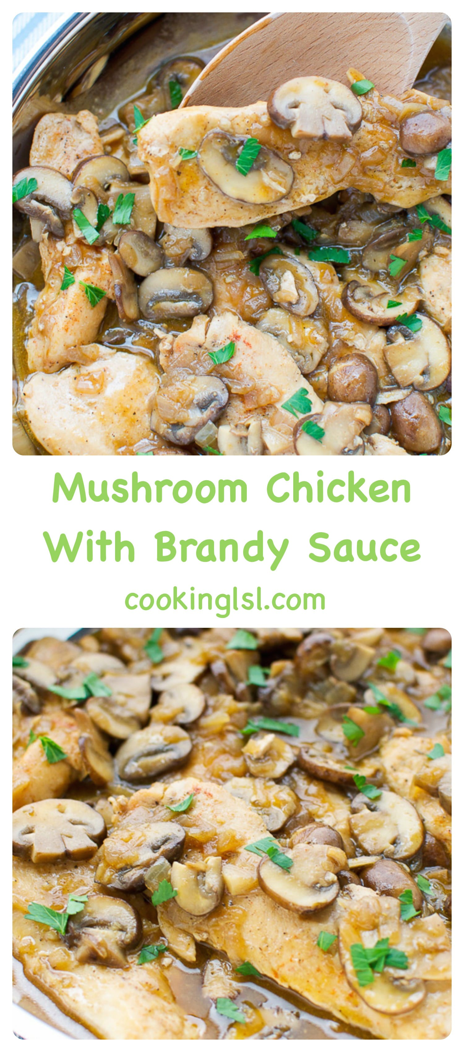 Mushroom Chicken With Brandy Sauce Recipe