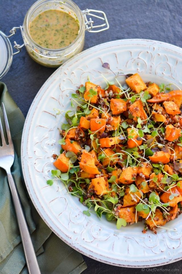 Roasted-Acorn-Squash-Microgreens-And-Quinoa-Salad