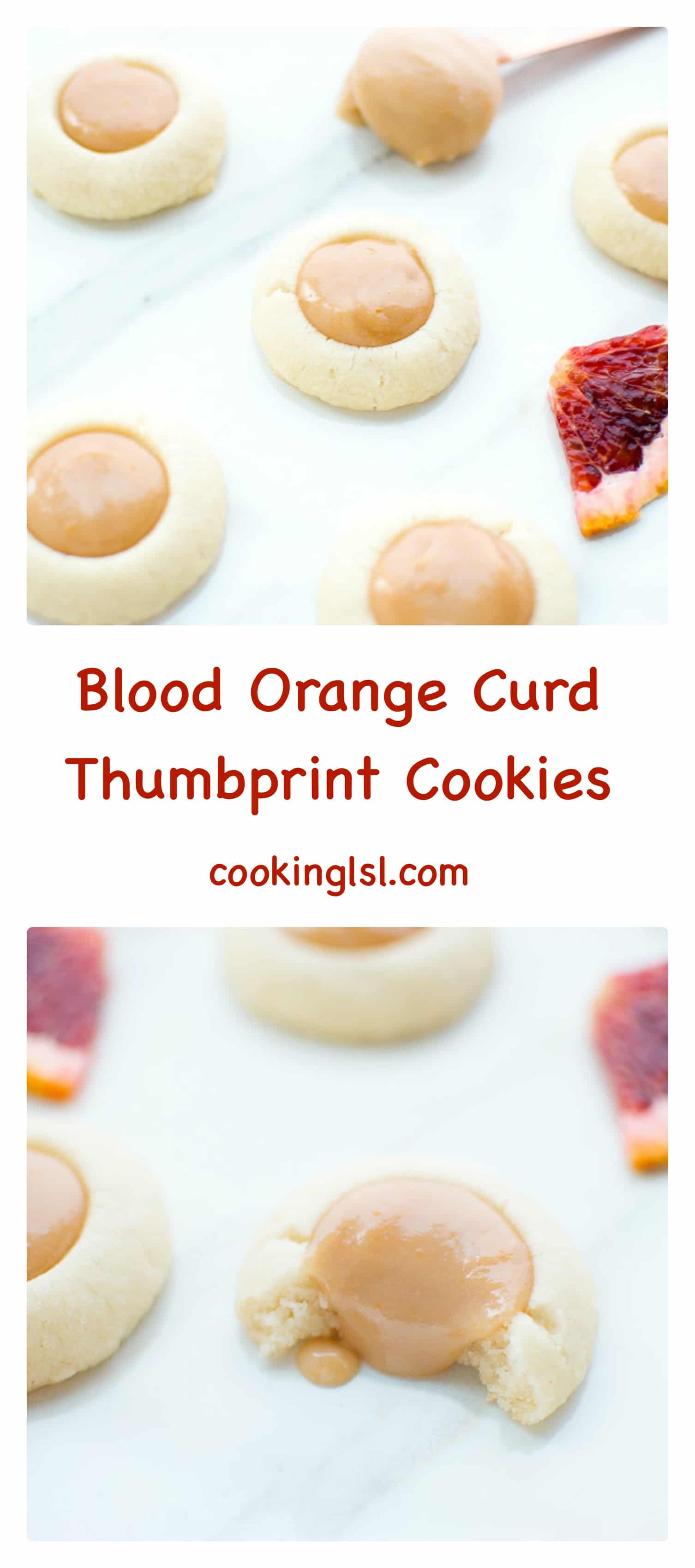 Blood Orange Curd Thumbprint Cookies