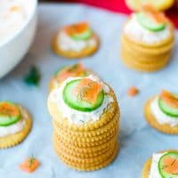 Smoked-Salmon-Dip-On-RITZ®-Crackers