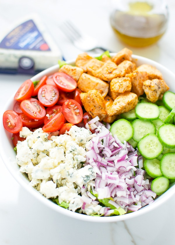 Buffalo chicken and blue cheese salad 2-1