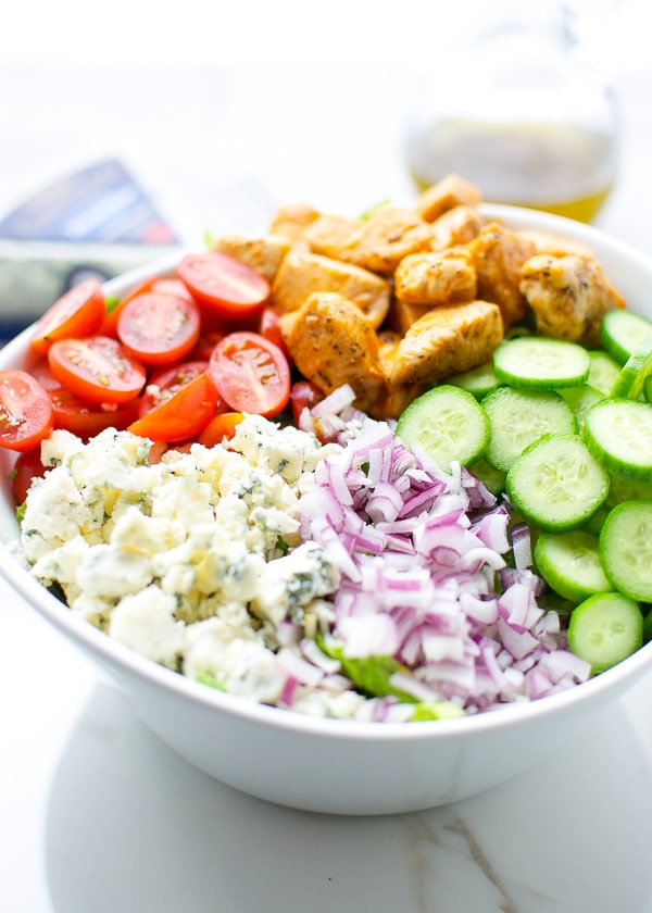 Buffalo chicken and blue cheese salad 3-1
