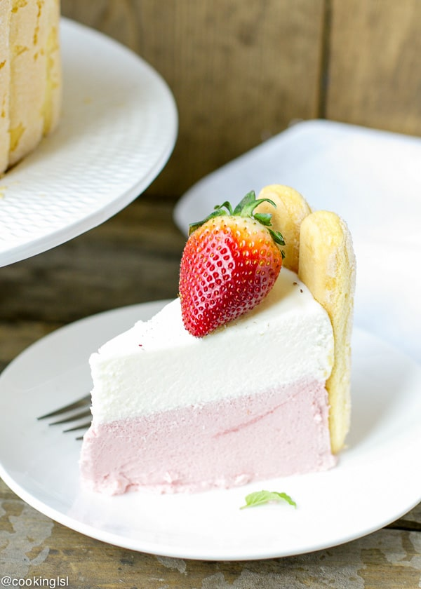 Strawberry And White Chocolate Charlotte Cake Recipe