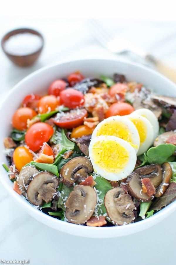 Bacon-Egg-And-Mushroom-Salad