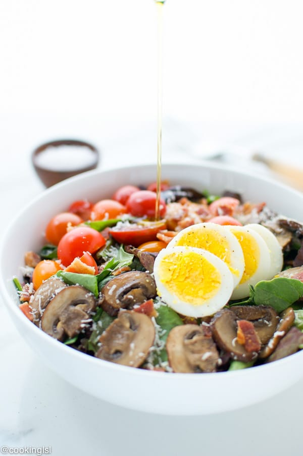 Bacon-Egg-And-Mushroom-Salad