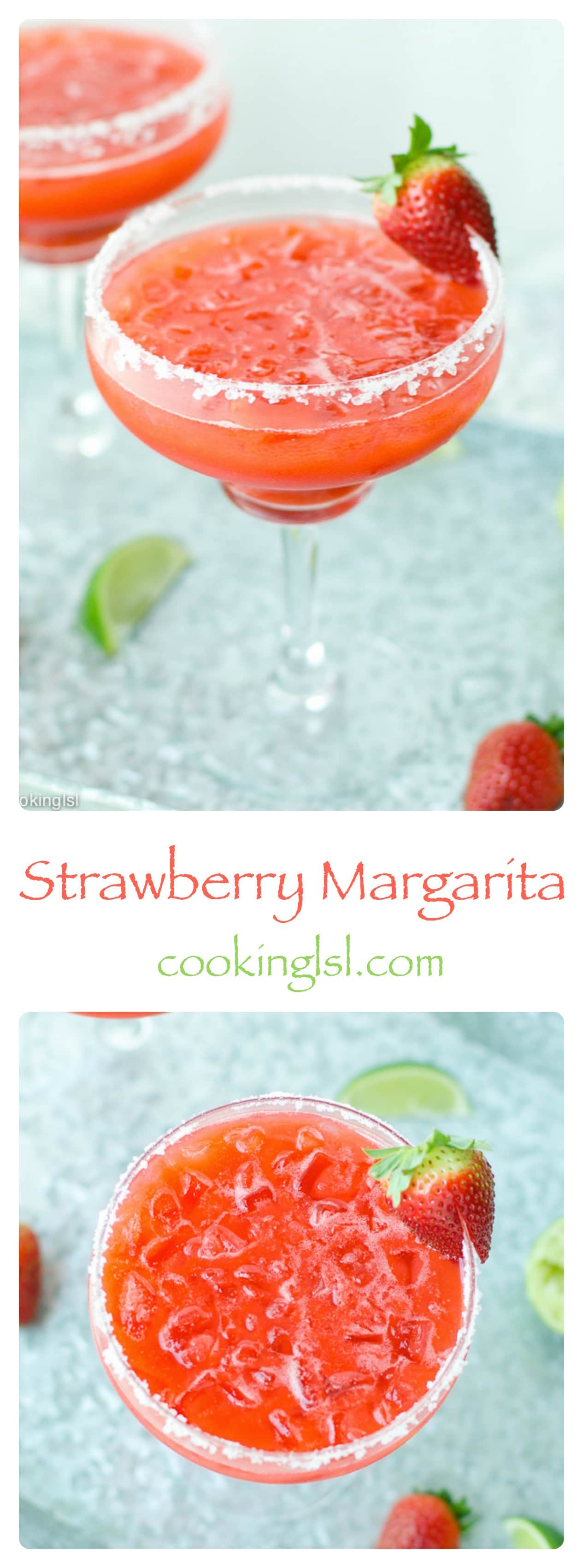 Easy-Fresh-Strawberry-Margarita-recipe-on-the-rocks-summer-MemorialDay-blender