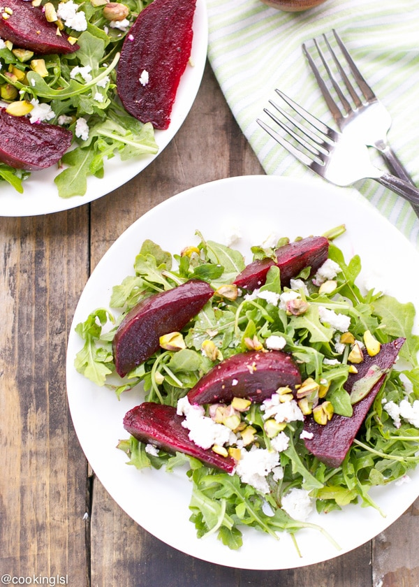 roasted-beets-arugula-goat-cheese-pistachios-salad