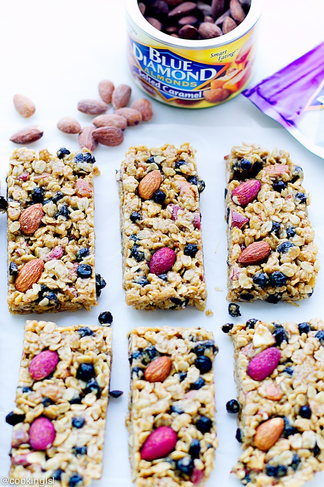 blueberry-almond-no-bake-granola-bars