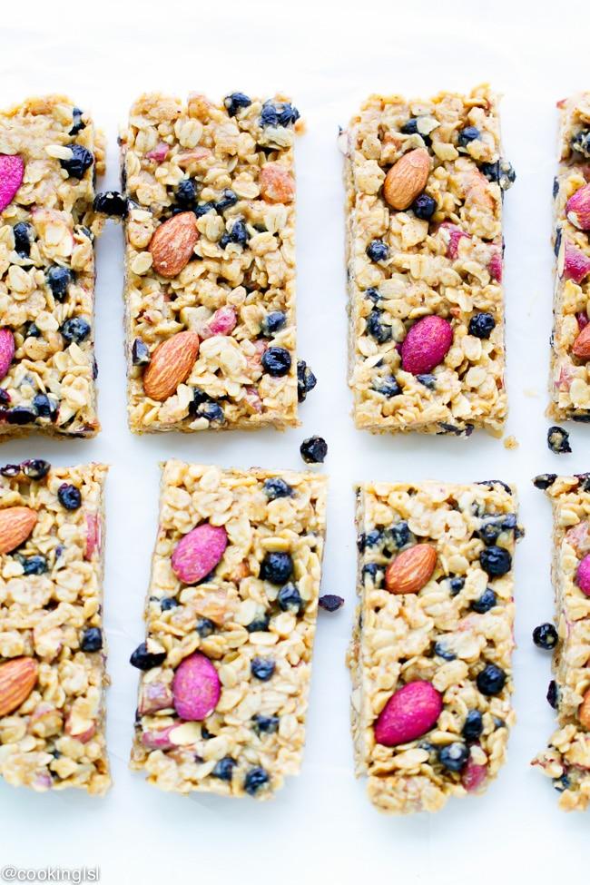 blueberry-almond-no-bake-granola-bars-recipe