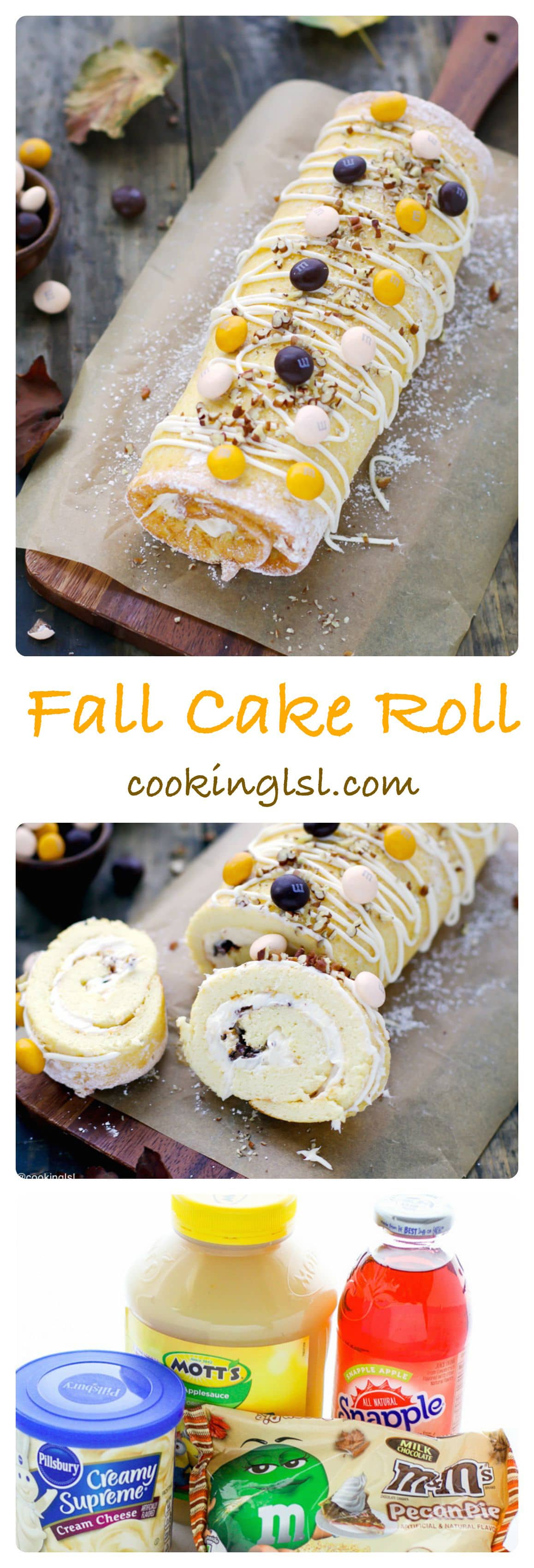 cake-roll-fall-M&M's-pecan-pie-candy