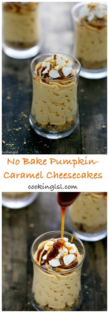 no-bake-cheesecake-cups-caremel-pumpkin