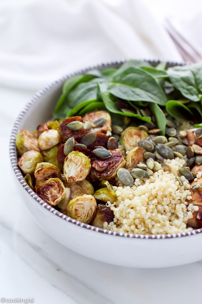 balsamic-brussels-sprouts-chicken-quinoa-bowls