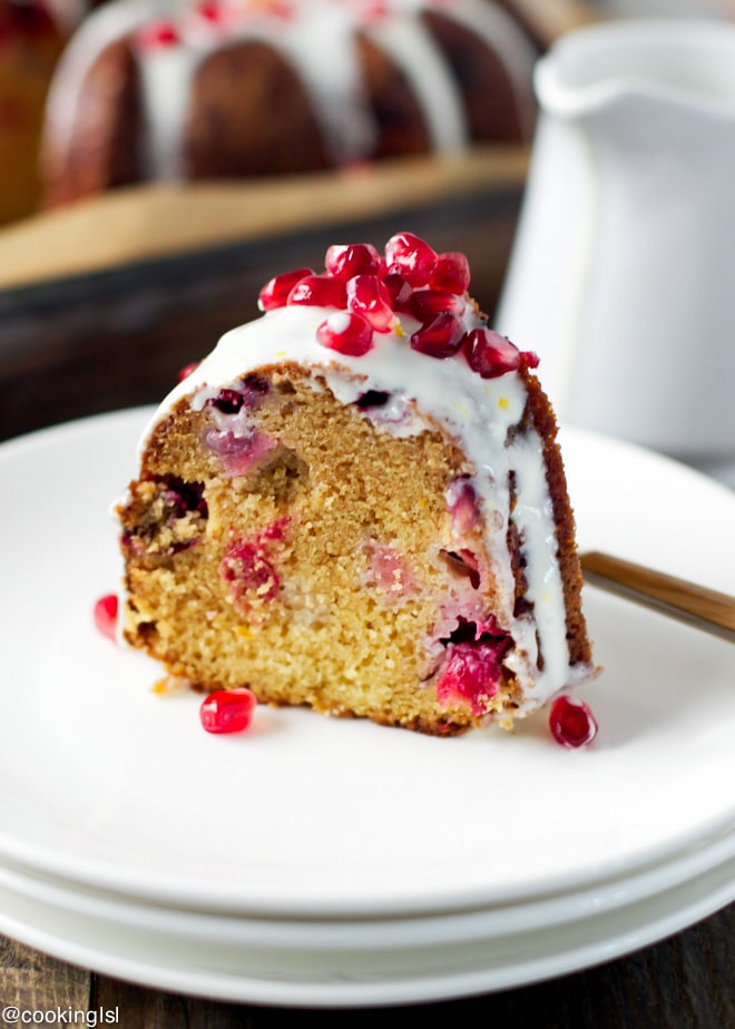 Cranberry-Pomegranate-Pound-Cake- With-Orange-Cream-Cheese-Glaze-Recipe