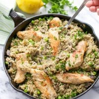one-pan-chicken-brown-rice-with-vegetables