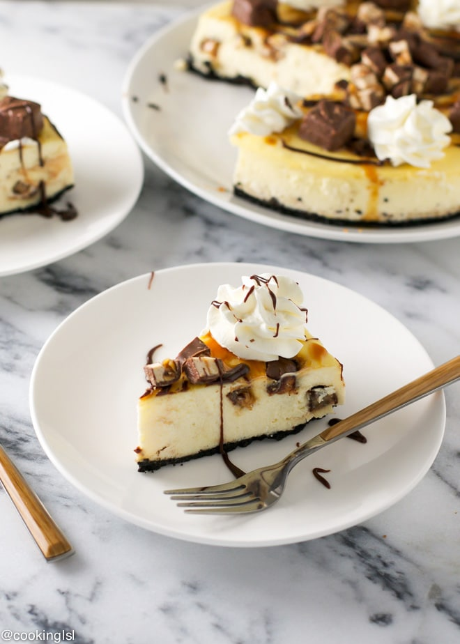 #GameDayGlory-snickers-cheesecsake-recipe