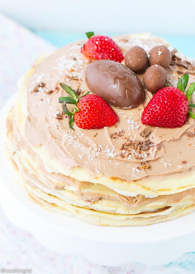 crepe-cake-butterfinger-eggs-chocolate -cream-cheese-whipped-cream