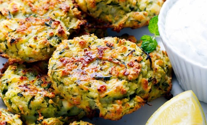 Oven Baked Zucchini And Feta Cakes (Fritters) - Cooking LSL