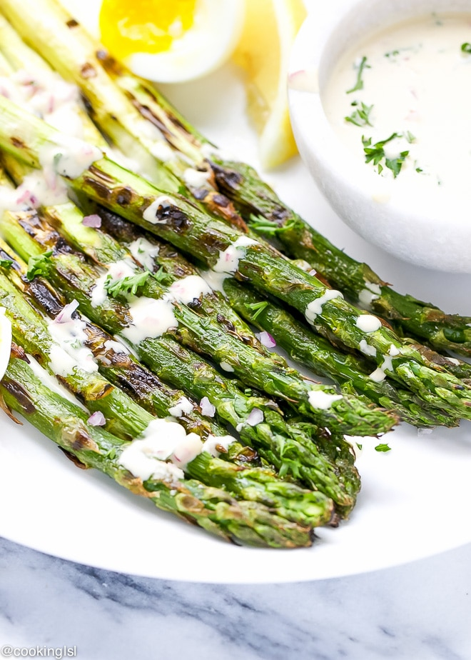 Grilled Asparagus With Dijon Mustard Vinaigrette - Cooking LSL
