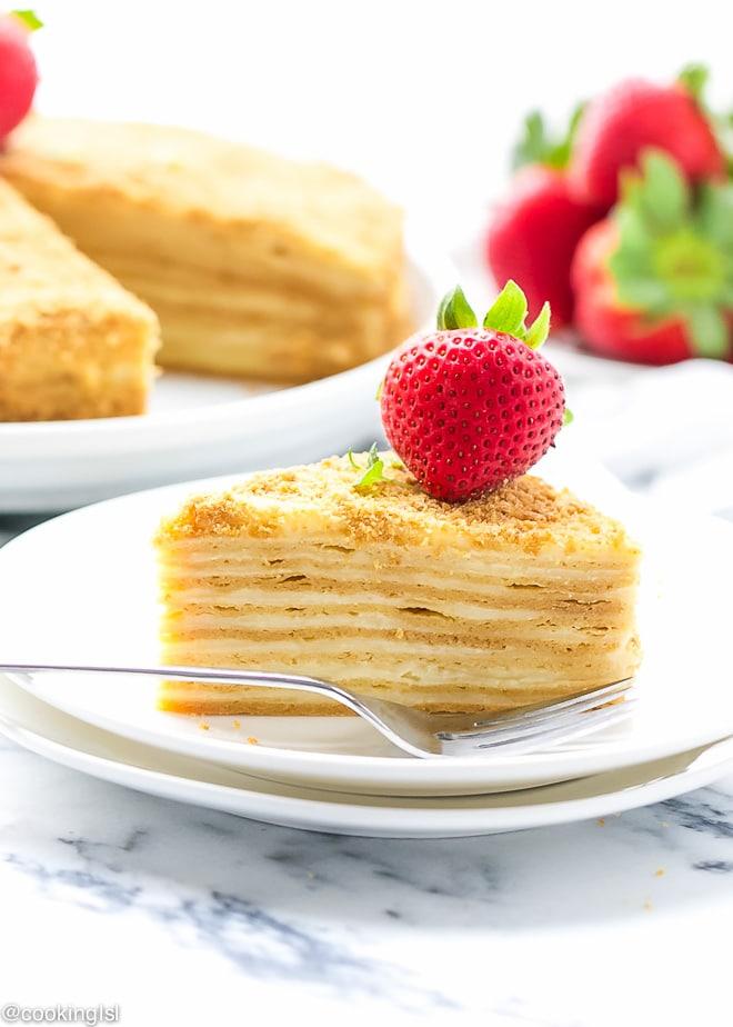 """Honey Layer Cake """"Medovik"""" Recipe"""