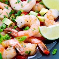 Seared-Shrimp-With-Tomatoes-And-Avocado-Recipe