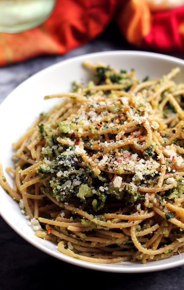 spaghetti-with-cauliflower-and-garlicky-swiss-chard-gremolata