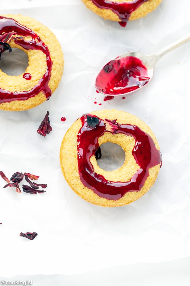 Almond-Meal-Donuts-With-Hibiscus-Glaze-Recipe