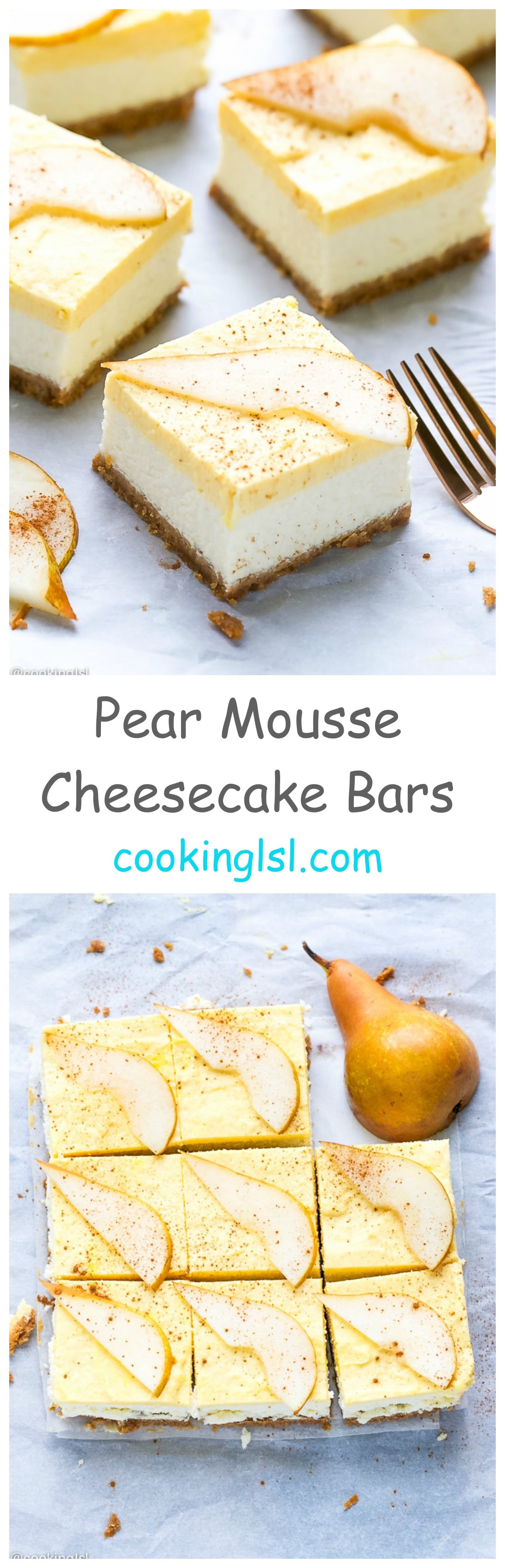 Pear-Mousse-Cheesecake-Bars-Recipe