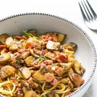Balsamic-Mushroom-Bacon-Pasta-Recipe